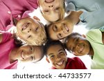 group of children playing in... | Shutterstock . vector #44733577