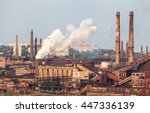 Steel Factory With Smokestacks...