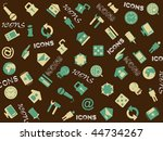 background with collection of... | Shutterstock .eps vector #44734267