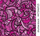 vector  seamless paisley pattern | Shutterstock .eps vector #447346915