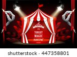 circus  carnival or funfair... | Shutterstock .eps vector #447358801