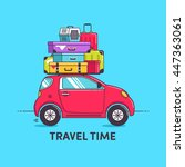 travel car illustration car... | Shutterstock .eps vector #447363061