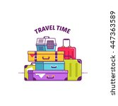 baggage  luggage vector... | Shutterstock .eps vector #447363589