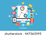 design concepts icons for e... | Shutterstock .eps vector #447363595