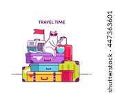 Baggage  Luggage Vector...