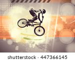 extreme sport  bmx rider.... | Shutterstock . vector #447366145