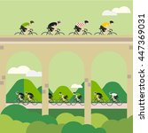 vector bicycle race... | Shutterstock .eps vector #447369031