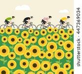 vector bicycle race... | Shutterstock .eps vector #447369034
