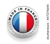 made in france vector button | Shutterstock .eps vector #447374644