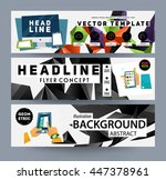geometric vector background.... | Shutterstock .eps vector #447378961