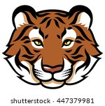 stylized tiger's head isolated... | Shutterstock .eps vector #447379981