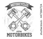 motorcycle piston. motorbike... | Shutterstock .eps vector #447384724