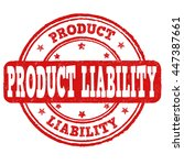 product liability grunge rubber ... | Shutterstock .eps vector #447387661