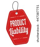 product liability red leather... | Shutterstock .eps vector #447387751