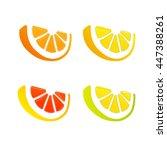 orange  grapefruit  lemon  lime ... | Shutterstock .eps vector #447388261