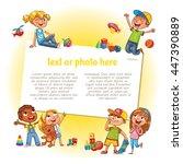 template for advertising... | Shutterstock .eps vector #447390889