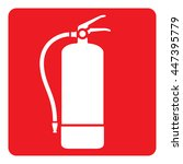 pictogram red signaling  fire... | Shutterstock .eps vector #447395779
