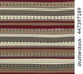uncommon ethnic pattern.... | Shutterstock .eps vector #447397189