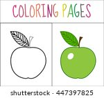 Coloring Book Page. Apple....