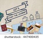 travel journey exploration... | Shutterstock . vector #447400435