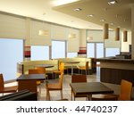 3d rendering of a modern bar... | Shutterstock . vector #44740237