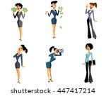 vector illustration of a six... | Shutterstock .eps vector #447417214