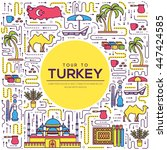 country turkey travel vacation... | Shutterstock .eps vector #447424585