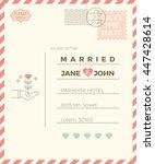 vintage wedding invitation card ... | Shutterstock .eps vector #447428614