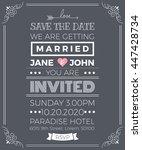 vintage wedding invitation card ... | Shutterstock .eps vector #447428734