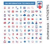 information technology  big... | Shutterstock .eps vector #447428791