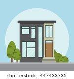 house icon. vector illustration ... | Shutterstock .eps vector #447433735
