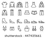 Stock vector clothes icon vector 447435661