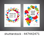 colorful abstract circle flyer  ...   Shutterstock .eps vector #447442471