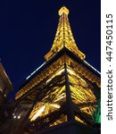 Stock photo the eiffel tower in las vegas nevada 447450115