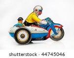 antique tin toy motorbike racer | Shutterstock . vector #44745046