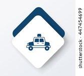 police car icon | Shutterstock .eps vector #447454699