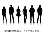business people silhouettes | Shutterstock .eps vector #447460441
