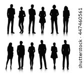 business people silhouettes | Shutterstock .eps vector #447460561