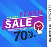 flash sale banner. vector... | Shutterstock .eps vector #447470974