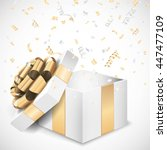 vector open gift box and... | Shutterstock .eps vector #447477109