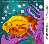 colorful aquarium fish | Shutterstock .eps vector #447478564