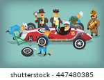colorful illustration with... | Shutterstock .eps vector #447480385