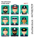 Set Of Icons Avatars The Polic...