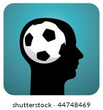 human head silhouette with... | Shutterstock . vector #44748469