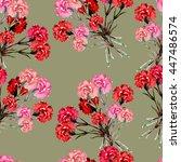 carnations bouquet  watercolor  ... | Shutterstock . vector #447486574