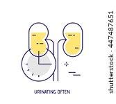 urinating often. modern thin... | Shutterstock .eps vector #447487651