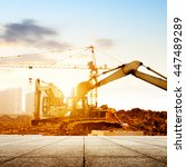 construction sites  working in... | Shutterstock . vector #447489289