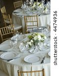 set tables at gathering | Shutterstock . vector #4474936