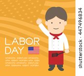 labor day of united states of... | Shutterstock .eps vector #447496834
