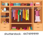 flat design walk in closet with ... | Shutterstock .eps vector #447499999